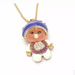 Enamel Monchhichi Doll Pendant/Necklace